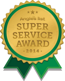 Angie's List Badge for Super Service Award for 2014